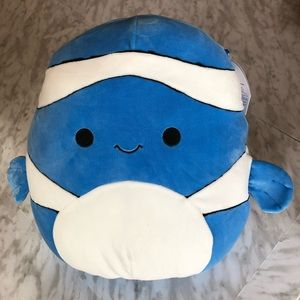 """NWT Ricky the Blue Clownfish Squishmallow 12"""""""